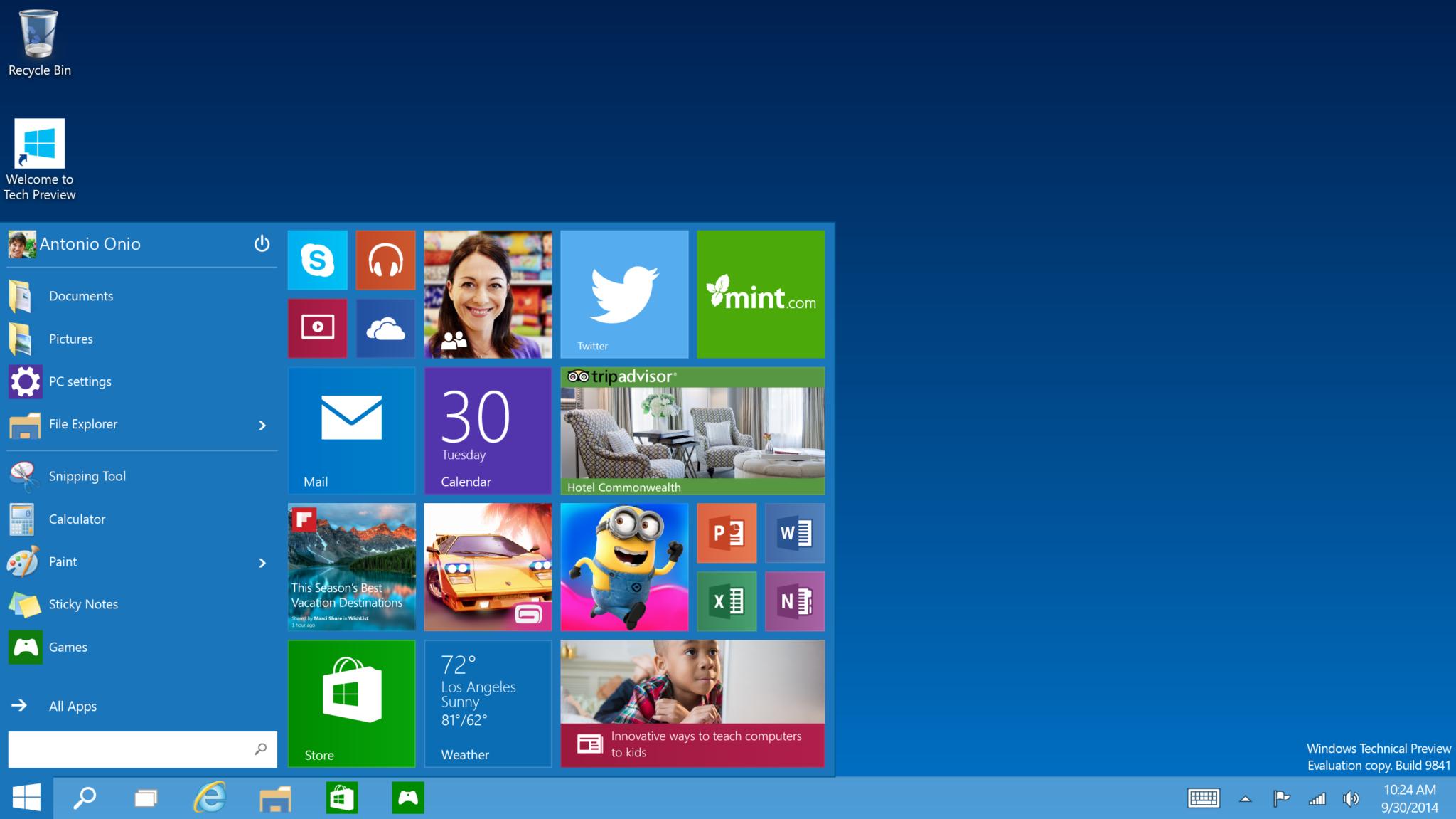 Nowy Windows prawdopodobnie będzie wyglądał właśnie tak.