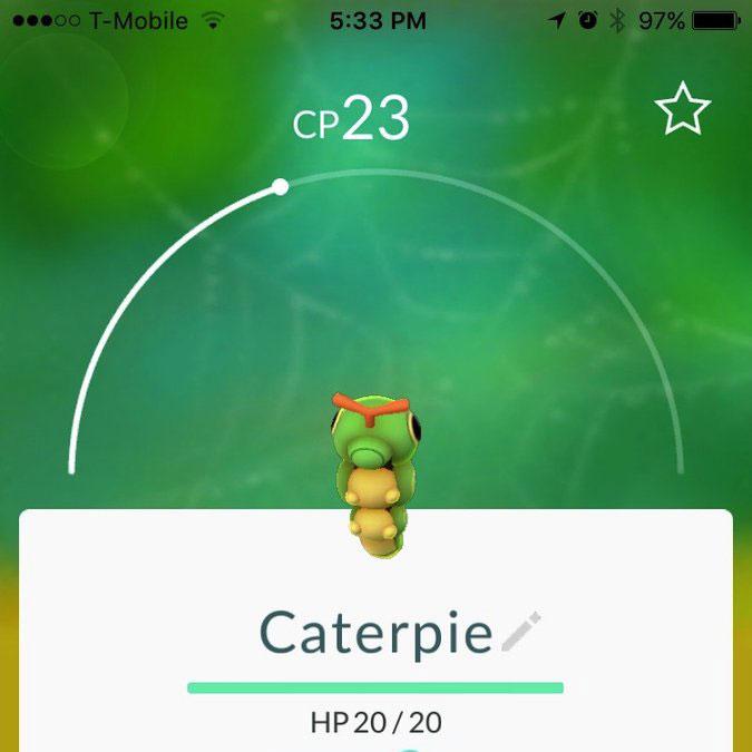 pokemon go Caterpie