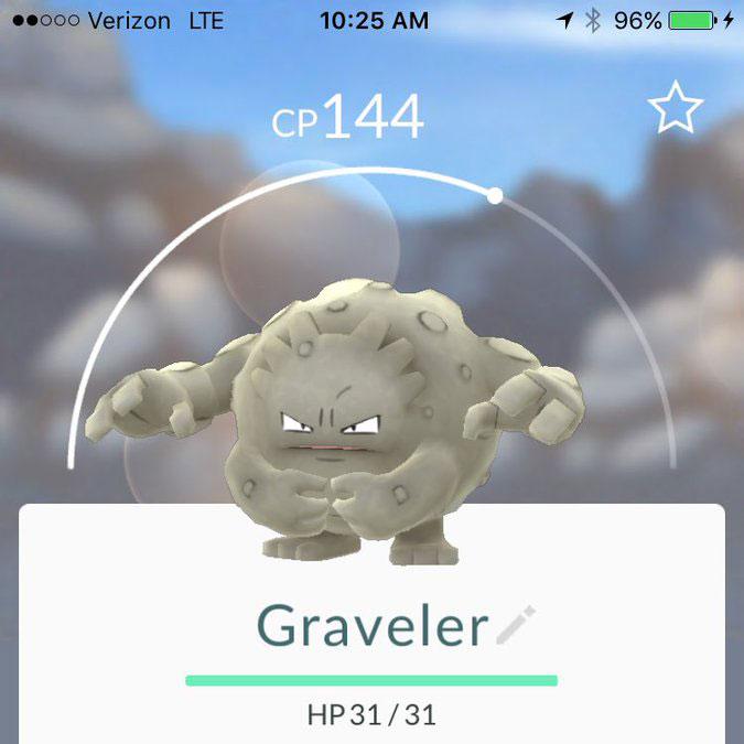 pokemon go Graveler