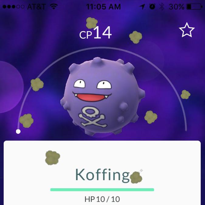 pokemon go Koffing