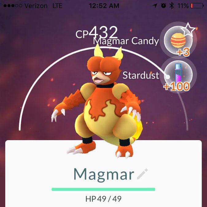 pokemon go Magmar