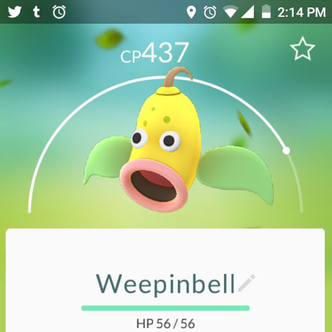 pokemon go Weepinbell