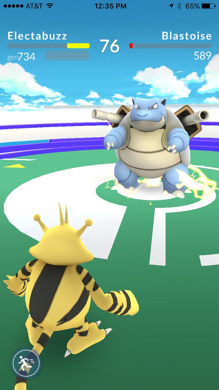 pokemon go walka pokemonów