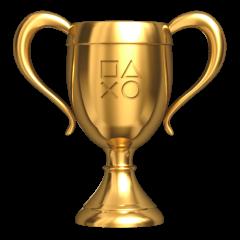 Playstation 4 złote trofeum